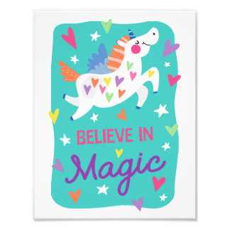 Unicorn Believe in Magic Print Photo Print