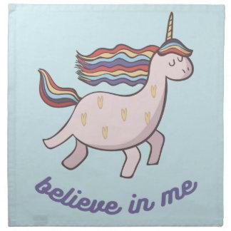 Unicorn Believe in Me Napkin