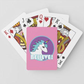 """Unicorn """"BELIEVE!"""" Poker Deck"""