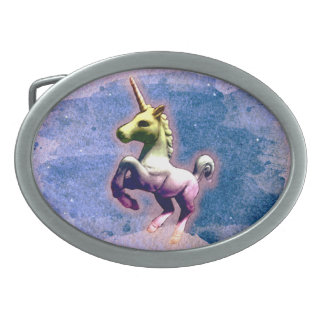 Unicorn Belt Buckle (Burnt Blue)