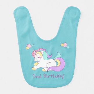 Unicorn Birthday Bib
