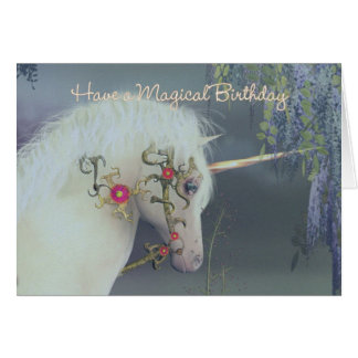 Unicorn Birthday Card Magical Birthday