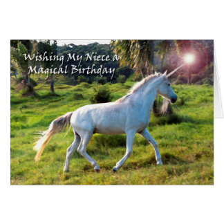 Unicorn, Birthday for Niece, Magical Dream Greeting Card