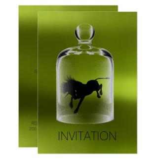 Unicorn Birthday Gentlemen Night Party Greenery Card