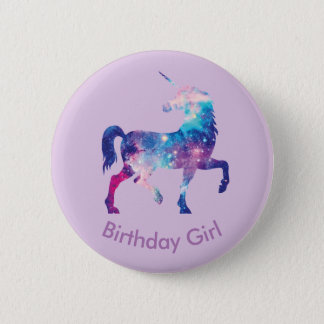 Unicorn Birthday Girl Badge