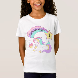 Unicorn Birthday Girl T-Shirt