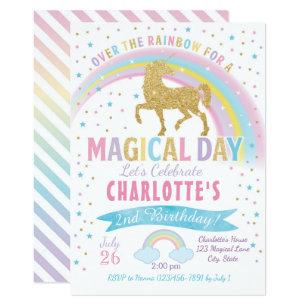 Unicorn Birthday Invitation Party Invite