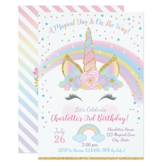 Unicorn birthday invitation unicorn party invite zazzle unicorn birthday invitation unicorn party invite stopboris Images