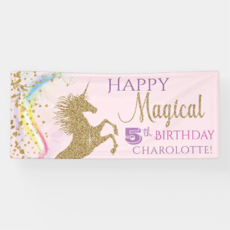 Unicorn Birthday Party Banner