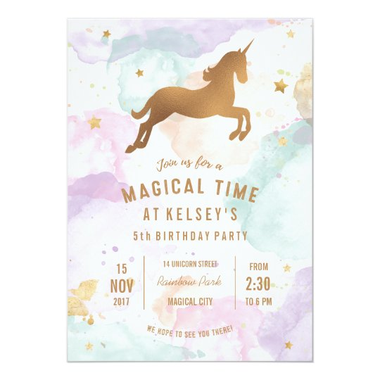Unicorn birthday party invitation zazzle unicorn birthday party invitation stopboris Gallery