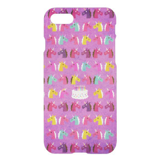 Unicorn Birthday Party iPhone 7 Case