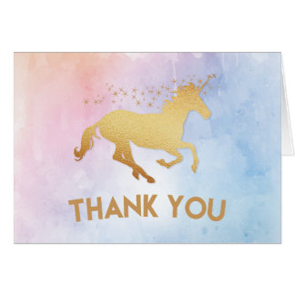 Unicorn Birthday Party Thank You Card