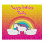 Unicorn Birthday poster