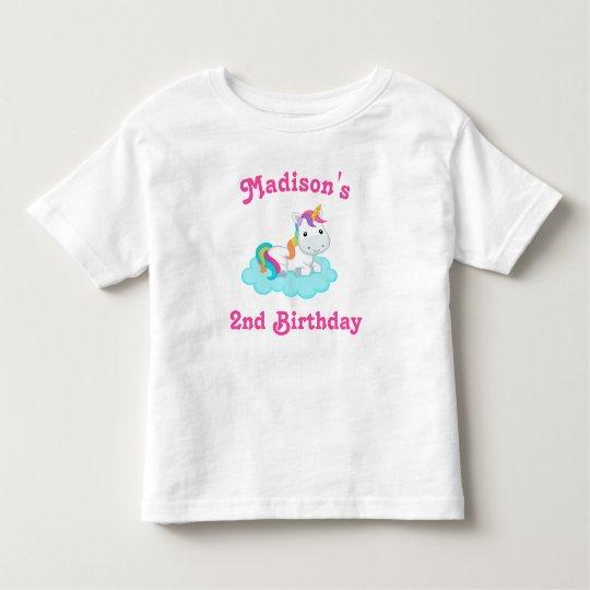 Unicorn Birthday T-shirt Toddler Kid