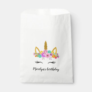Unicorn Birthday / Unicorn head Flowers Favor bag