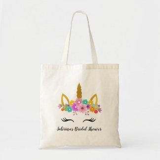 Unicorn Birthday / Unicorn head Flowers Tote Bag