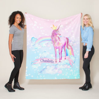 Unicorn Blanket Personalized Unicorn Blankets