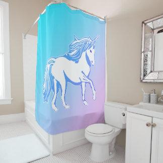 Unicorn Blue and Purple Gradient Shower Curtain
