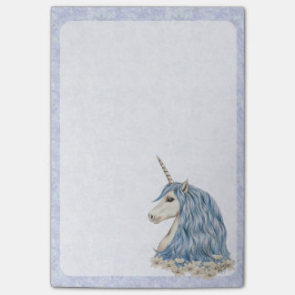 Unicorn Blue Hair Post-it Notes