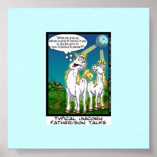 Unicorn Bonding Funny Canvas Print