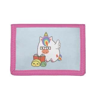 Unicorn Bookworm Trifold Wallet