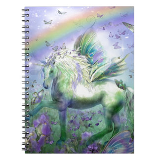 Unicorn Butterflies And Ranbows Spiral Notebooks