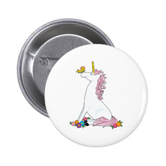 Unicorn Butterfly 6 Cm Round Badge