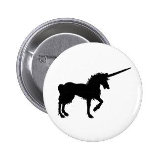 Unicorn Button Unicorn Pin Black Unicorn Button
