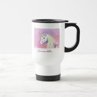 Unicorn by: Mendi Vernatter Stainless Steel Travel Mug