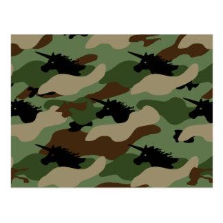 Unicorn Camouflage Postcard