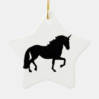 Unicorn Ceramic Star Decoration
