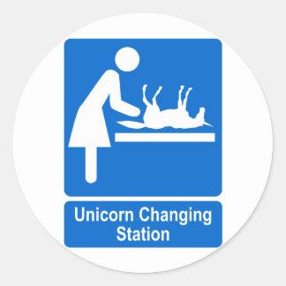 Unicorn Changing Station Sticker