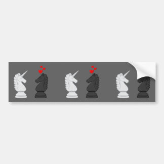 Unicorn Chess Knight Bumper Sticker