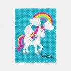 Unicorn * Choose your background colour Fleece Blanket