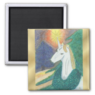 """Unicorn Christmas"" Magnet"