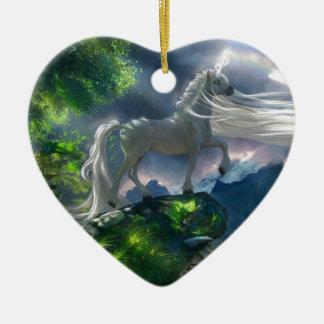 Unicorn Cliff Christmas Ornament