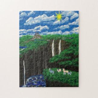 Unicorn Cliffs Family Jigsaw Puzzle