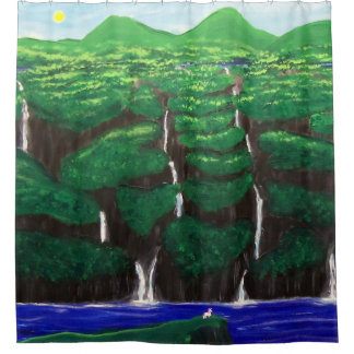 Unicorn Cliffs Shower Curtain