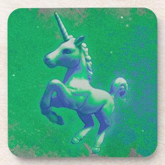 Unicorn Coaster - Hard Plastic (Glowing Emerald)