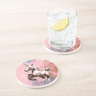 Unicorn Coaster - Sandstone Rnd (Faded Sherbet)