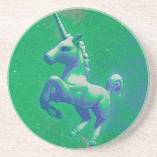 Unicorn Coaster - Sandstone Rnd (Glowing Emerald)