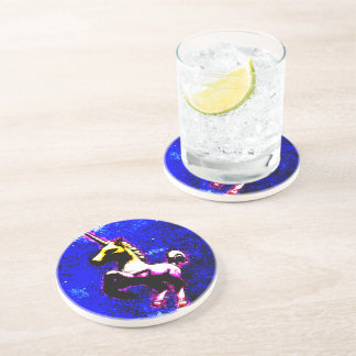 Unicorn Coaster - Sandstone Rnd (Punk Cupcake)