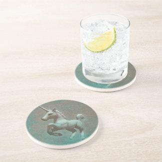 Unicorn Coaster - Sandstone Rnd (Teal Steel)