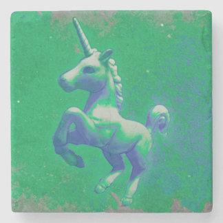 Unicorn Coaster - Stone (Glowing Emerald) Stone Coaster