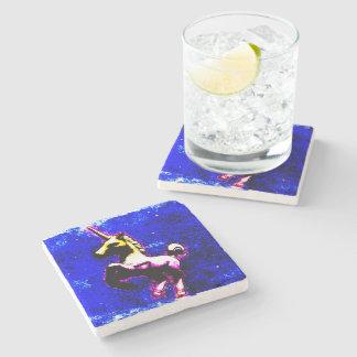 Unicorn Coaster - Stone (Punk Cupcake) Stone Coaster