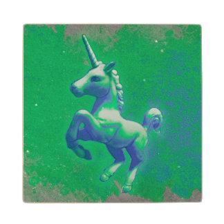Unicorn Coaster - Wooden (Glowing Emerald) Maple Wood Coaster
