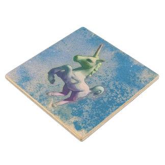 Unicorn Coaster - Wooden (Glowing Emerald) Wood Coaster