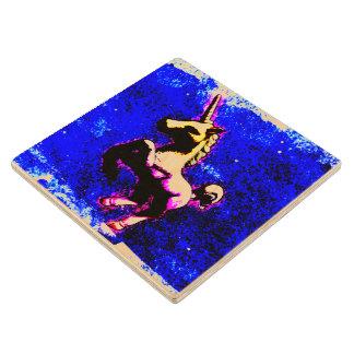 Unicorn Coaster - Wooden (Punk Cupcake)