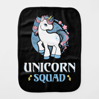 Unicorn command baby burp cloth