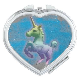 Unicorn Compact Mirror Heart (Blue Nebula)